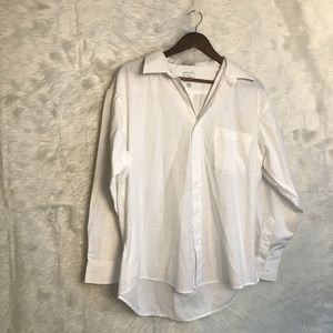 Bill Robinson Men's Size XL White Button Down